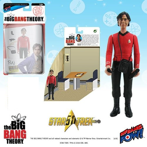 Bif Bang Pow Big Bang Theory Raj Star Trek Figure